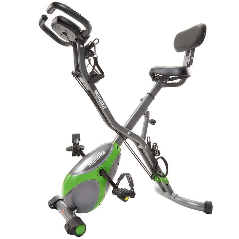 Foldaway X-3000 - Vélo d'appartement x-Bike Pliant - Gris/Vert