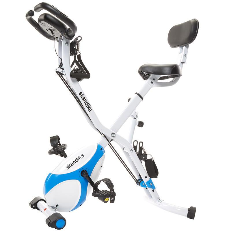Foldaway X-3000 - Vélo d'appartement x-Bike Pliant - Bleu/Blanc