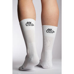 Chaussette 'Coffee ride' blanche