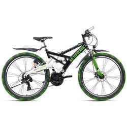 VTT tout suspendu ATB 26'' Crusher noir-vert TC 46 cm KS Cycling
