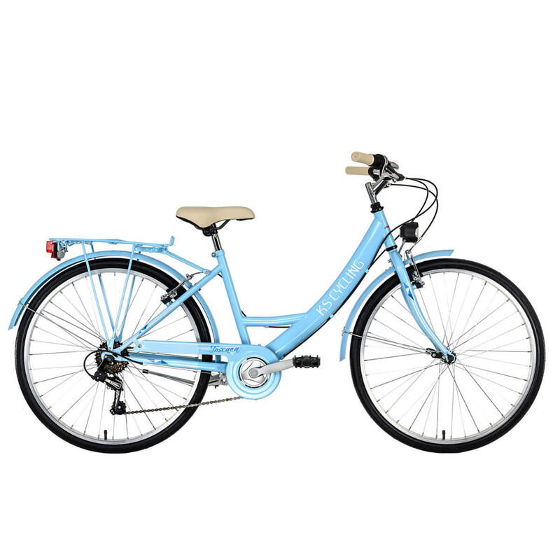 Vélo de ville Dame 26'' Toscana 6 vitesses bleu clair TC 41 cm KS Cycling