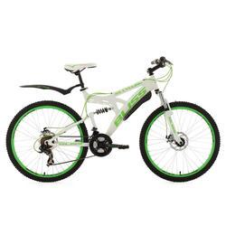 VTT tout suspendu 26'' Bliss blanc-vert TC47cm KSCycling