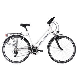 VTC femme 28'' Metropolis blanc guidon multiposition KS Cycling