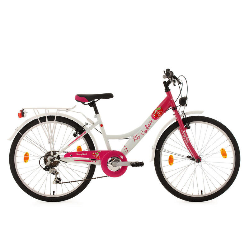 Kinderfiets 24'' Cherry Heart roos KS Cycling