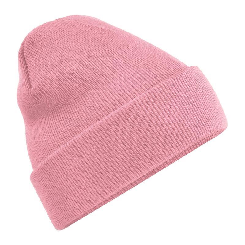 gorro de invierno liso para adulto rosa