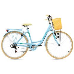 Vélo de ville femme 28'' Cantaloupe avec panier Dacapo