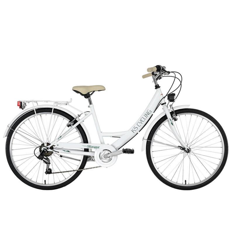 Vélo de ville Dame 26'' Toscana 6 vitesses blanc TC 41 cm KS Cycling