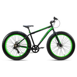 VTT Fatbike 26'' Fat-XTR noir 7 vitesses TC 46 cm KS Cycling