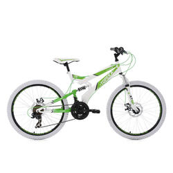 VTT tout suspendu 24'' Topeka blanc-vert TC 41 cm KS Cycling