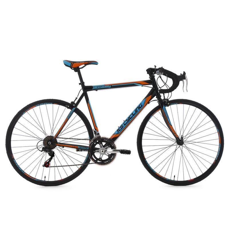 Vélo de Course 28'' Piccadilly noir-orange-bleu KS Cycling
