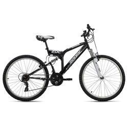 Fully Mountainbike 26'' Zodiac zwart-wit KS Cycling