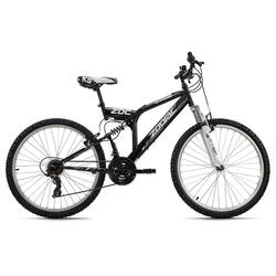 VTT tout suspendu 26'' Zodiac noir-blanc TC 48 cm KS Cycling