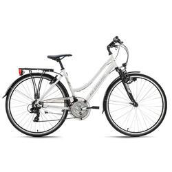 VTC Dame 28'' aluminium Canterburry blanc TC 53 cm KS Cycling