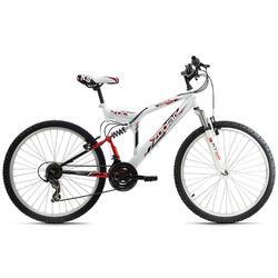 Fully Mountainbike 26'' Zodiac wit-rood KS Cycling
