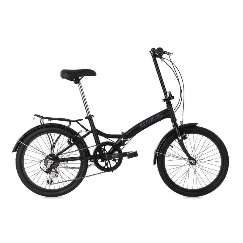 Vélo pliant 20'' Foldtech noir 6 vitesses TC 32 cm KS Cycling