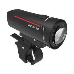 Luce anteriore a LED con staffa Trelock ls300 i-go vector 30 lux usb