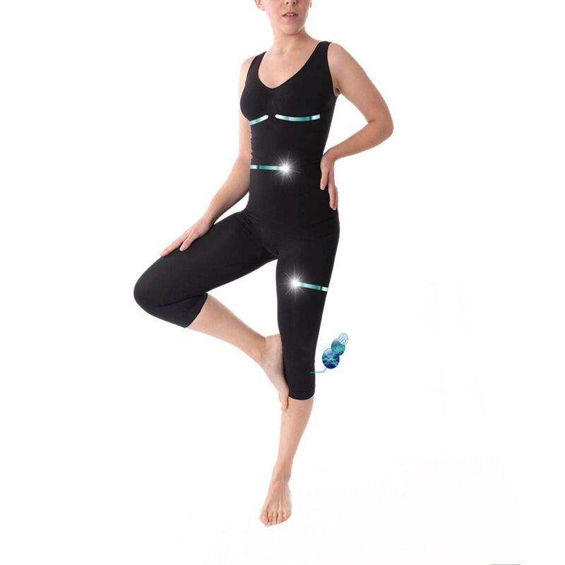 Set: T shirt & Legging capri avec contrôle de l'abdomen 160 den, Nova