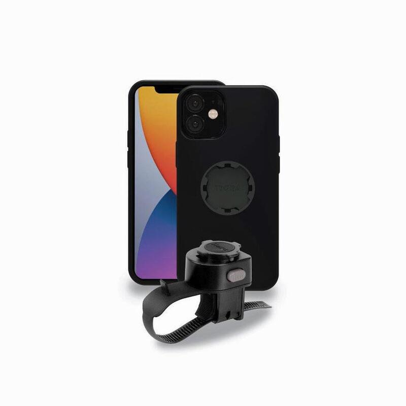 Tigra Fitclic iPhone 12 Mini case with Handlebar mount