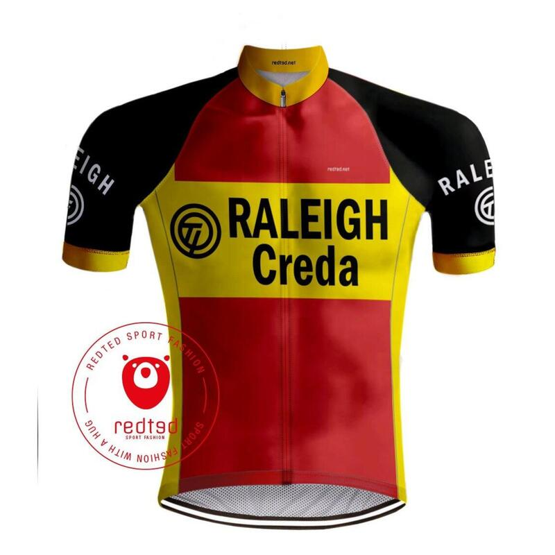 MAILLOT CYCLISME VINTAGE TI-RALEIGH - REDTED