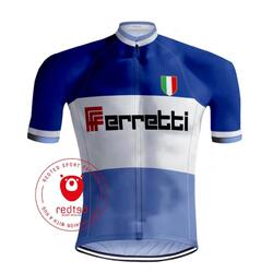 RETRO WIELERSHIRT FERRETTI - REDTED