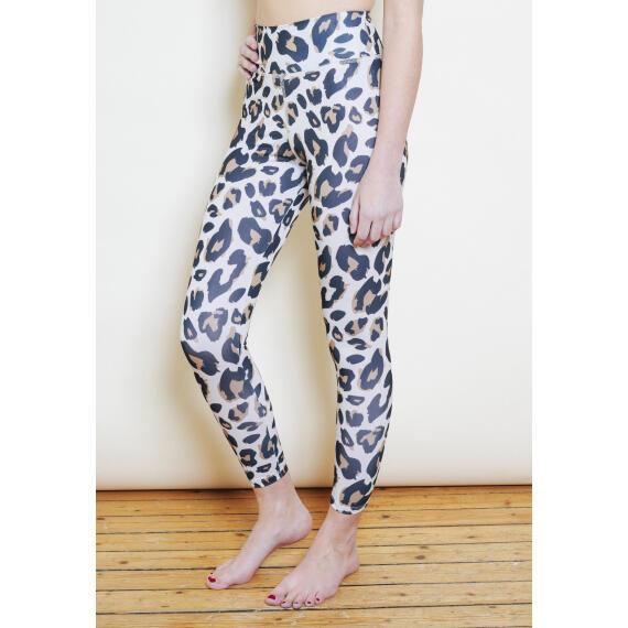 Legging yoga recyclé taille haute seconde peau léopard
