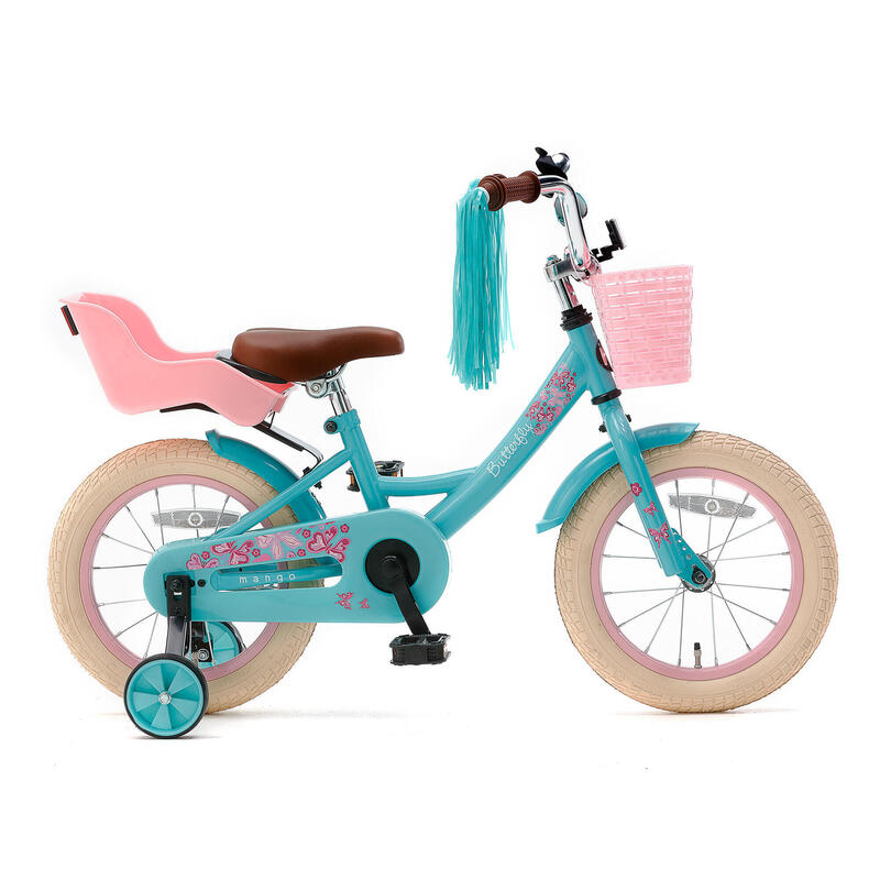 Nogan Butterfly Kinderfiets - 14 inch - Turquoise