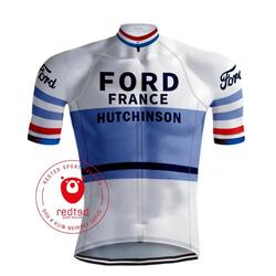 MAILLOT CYCLISME RÉTRO FORD - REDTED RÉTRO
