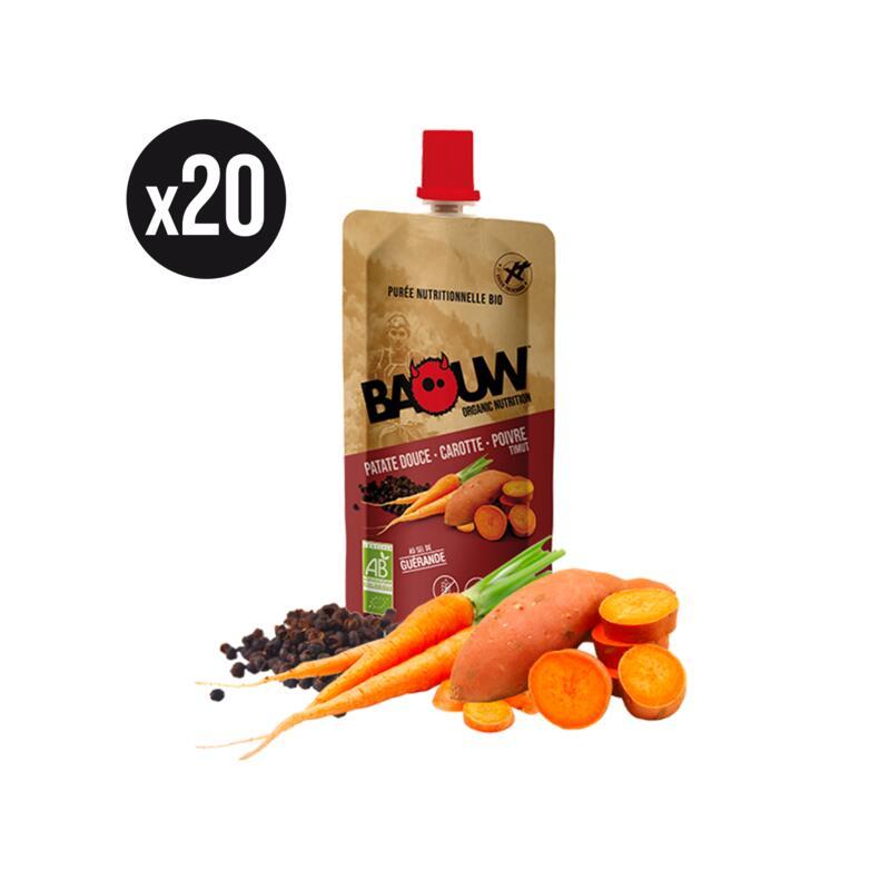 Pack x20 Purées nutritionnelles salées Patate douce-Carotte-Poivre Timut