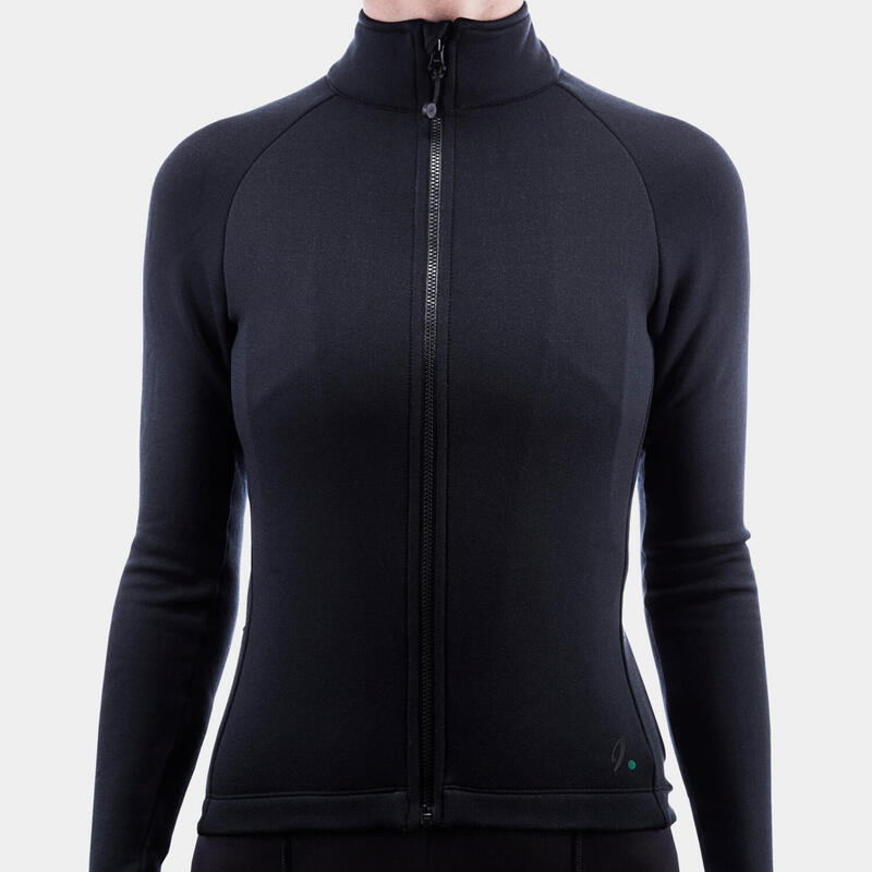 Maillot TherMerino Anthracite Black Femme