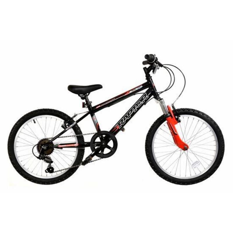 Basis Raptor Junior Hardtail Mountain Bike 20in Wheel - Gloss Black/Red