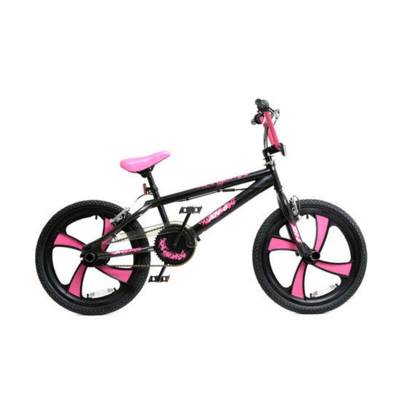 XN-6 BMX Bike Girls Freestyle BMX - 20in MAG Wheel Gyro Black/Pink