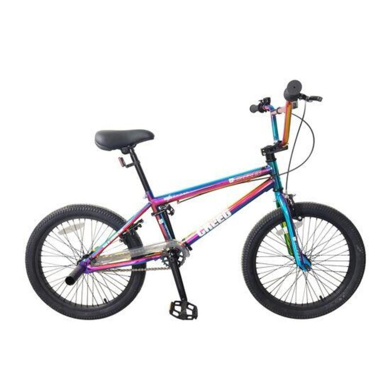 DRB Creed 20in Freestyle BMX 25-9t Single Speed - Neo Chrome