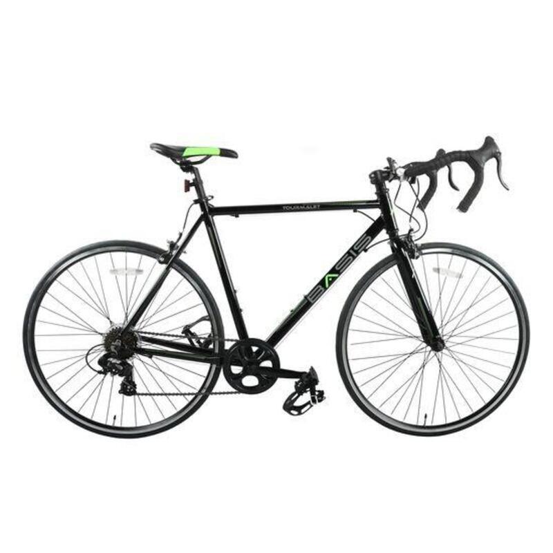 Basis Tourmalet Adult Road Bike Alloy Frame 59cm 700c Wheel Black/Green