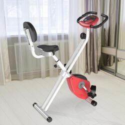 Bicicleta Estática Dobrável com assento ajustável Ecrã LCD