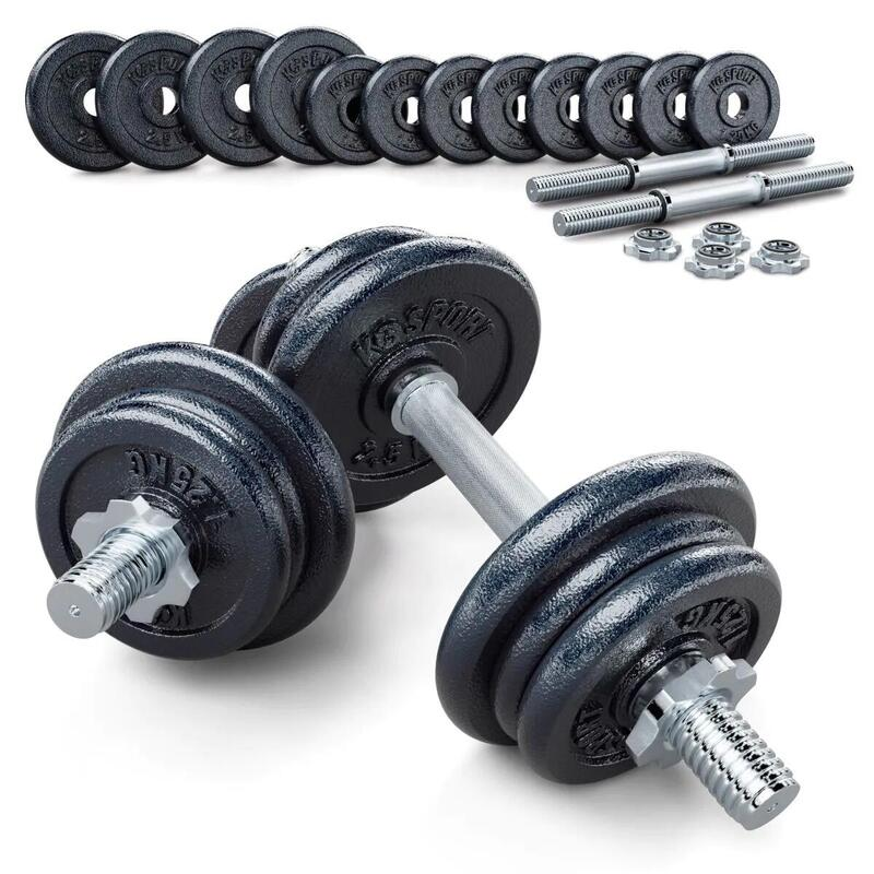 Mancuernas de 24 o 39 kg I 2x Kit Mancuernas musculación