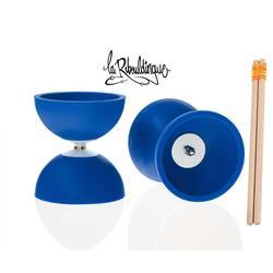 Diabolo Astro Play ø 100 – Blauw - 160 g + houten stokken voor kinderen