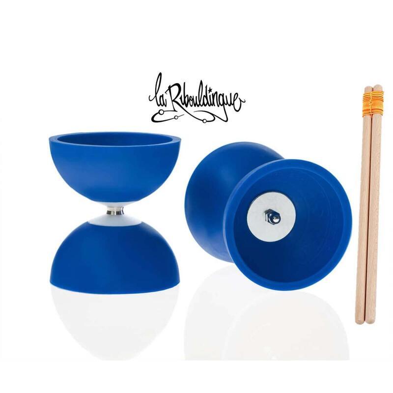 Diabolo Astro Play ø 100 – Bleu - 160g + baguettes bois enfant