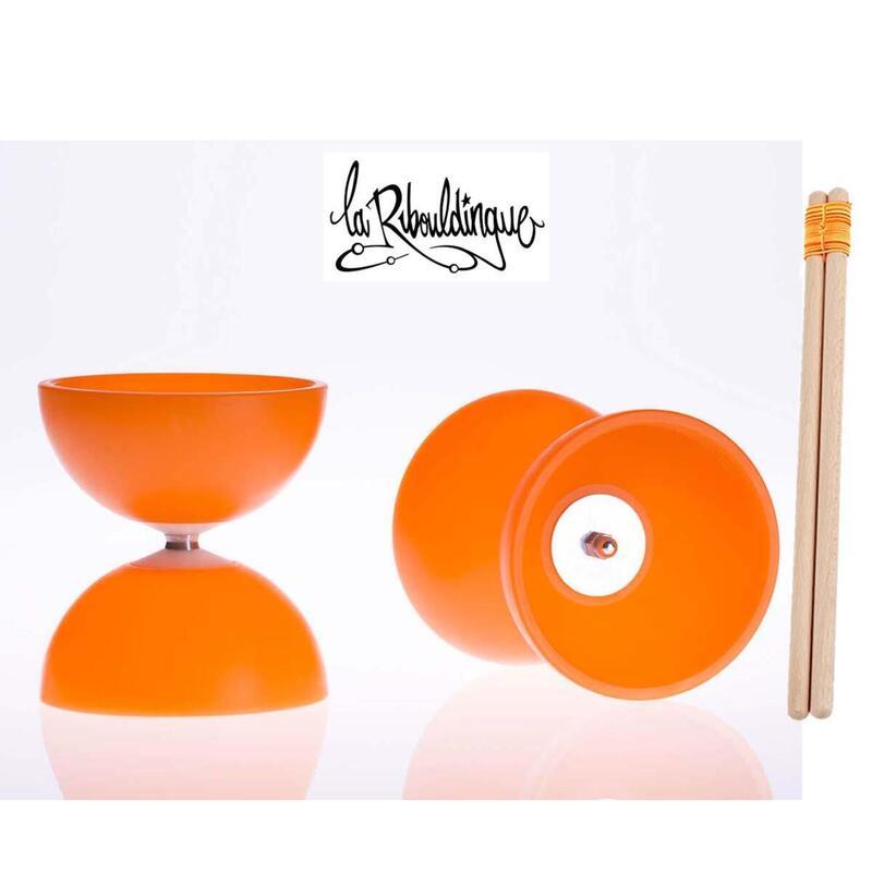 Diabolo Astro Play ø 100 – Orange - 160g + baguettes bois enfant
