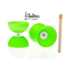 Diabolo Astro Play ø 100 – Groen - 160 g + houten stokken voor kinderen