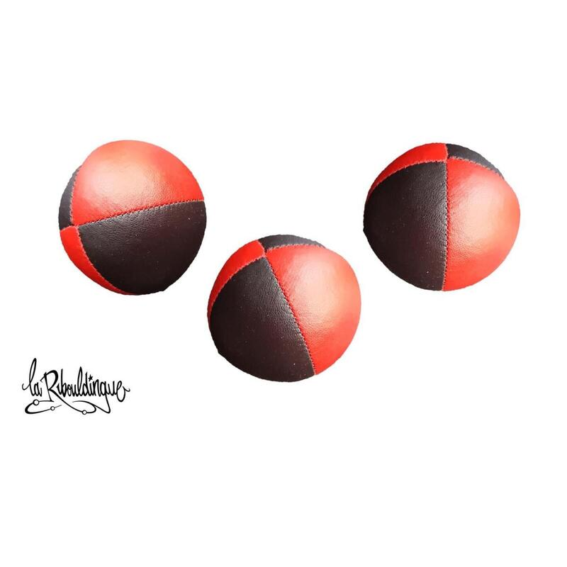 Balle à grains Classic ø 50 mm – Lot de 3 – 75 g NOIR/ROUGE