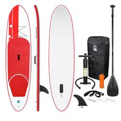 Stand Up Paddle Board Prancha de surf inflável vermelha 308x76x10cm