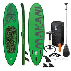 Stand Up Paddle Board Surfboard Makani 320 x 82 x 15 cm Groen