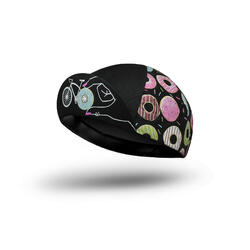 CASQUETTE VÉLO 'Donut Mess With My Ride Time' / BLACK