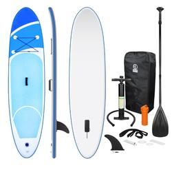 Stand Up Paddle Board Surfboard Opblaasbaar Blauw 308x76x10