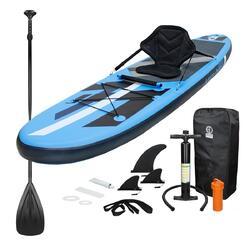 Stand Up Paddle Surf-Board 305 x 78 x 15 cm Kayak Zitplaats Blauw
