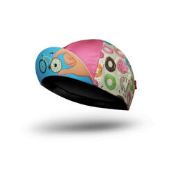 CASQUETTE VÉLO 'Donut Mess With My Ride Time' / PINK