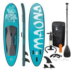 Prancha de Stand Up Paddle Prancha de surf 308 x 76 x 10 cm Turquesa Maona