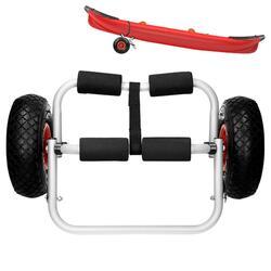 Chariot de kayak pliable en aluminium de 60 kg avec pneus en caoutchouc
