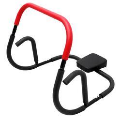 Ab-trainer met kussen voor crunches en push-ups zwart/rood 50x71x50 cm
