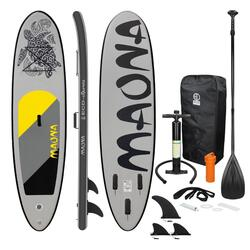 Prancha de surf stand up paddle 308 x 76 x 10 cm cinza maona